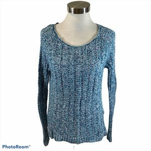 Ladies Gap Cotton Shades Of Blue Sweater Small